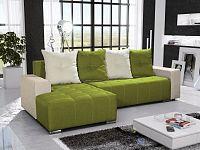 Smartshop Rohová sedačka TELO 5 levá, zelená/krémová