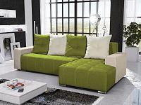 Smartshop Rohová sedačka TELO 5 pravá, zelená/krémová