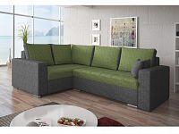 Smartshop Rohová sedačka VALERIO BIS 8 levá, zelená látka/šedá látka