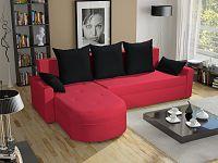 Smartshop Rohová sedačka WENECJA PIK BIS 9, červená látka