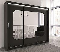 Smartshop Šatní skříň BARCELONA 250 černá
