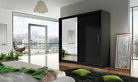 Smartshop Šatní skříň BEGA VI, černý mat/zrcadlo