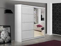 Smartshop Šatní skříň s posuvnými dveřmi VISTA 180, bílá