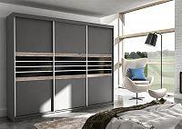 Smartshop Skříň TURYN 250, láva/černé sklo