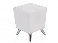 Smartshop Taburet DARS s úložným prostorem, bílá ekokůže/chrom