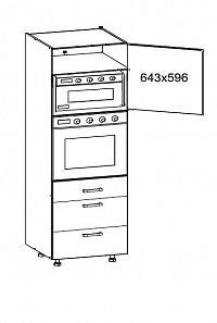 Smartshop TAFNE vysoká skříň DPS60/207 SAMBOX pravá, korpus šedá grenola, dvířka béžový lesk