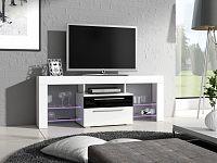 Smartshop Televizní stolek HAVANA Plus, bílá/černý lesk