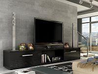 Smartshop Televizní stolek MOLTON RTV, černý lesk