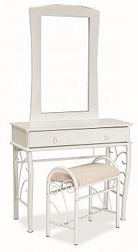 Smartshop Toaletní stolek 1102 se zrcadlem bílá/bílá