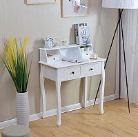 Smartshop Toaletní stolek RODES v barokním stylu, bílý