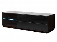 Smartshop TOGO TV stolek 160 TYP 40, wenge/černé sklo