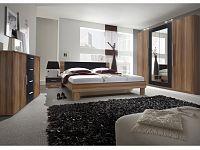 Smartshop VERA ložnice s postelí 180x200, červený ořech/černá