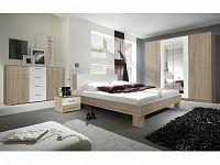 Smartshop VIERA ložnice s postelí 180x200, dub sonoma/bílá