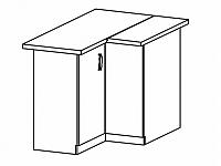 SYCYLIA, skříňka dolní rohová D90N levá, ořech milano
