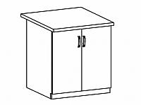 SYCYLIA, skříňka horní G60, ořech milano