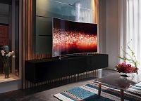 Televizní stolek BOX 14, černá/černý lesk