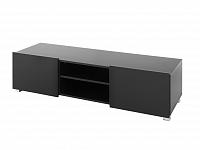 Televizní stolek GORDIA RTV2D, černá/černý lesk ZRUŠENO