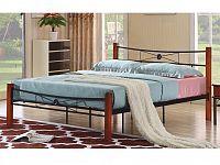 Tempo Kondela AMARILO manželská kovová postel s roštem 160x200 cm, třešeň