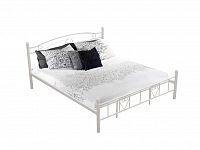 Tempo Kondela Kovová postel BRITA 180 x 200 vč. roštu, bílá