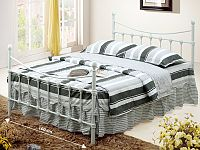 Tempo Kondela NIEVES kovová postel s roštem 160x200 cm, bílá