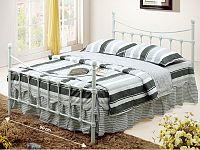 Tempo Kondela NIEVES kovová postel s roštem 90x200 cm, bílá