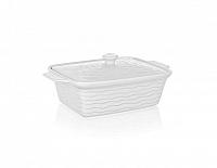 BANQUET Zapékací forma obdélníková s víkem 28x18cm Culinaria White