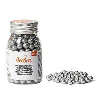 Cukrové zdobení stříbrné perly 100g - Decora