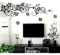 Dekorace na zeď - Květiny prorostlé květy - Nalepovací tabule