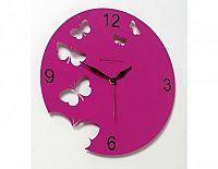 Designové hodiny D&D 201 Meridiana, fuchsiový lak