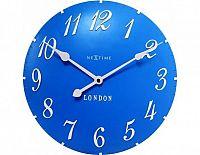 Designové nástěnné hodiny 3084bl Nextime v anglickém retro stylu 35cm