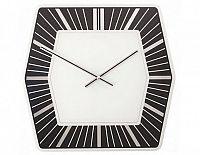Designové nástěnné hodiny 8128zw Nextime Hexagon black 43cm