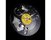 Designové nástěnné hodiny Discoclock 008SB Curly thoughts 30cm