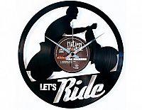 Designové nástěnné hodiny Discoclock 101 Let's ride 30cm