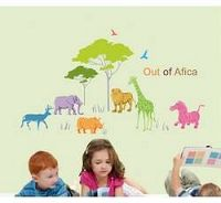 Dětské samolepky na zeď - Afrika - Nalepovací tabule