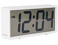 Digitální stolní i nástěnné hodiny/budík 5646WH Karlsson 18cm