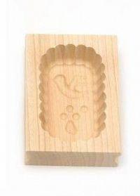 Forma na máslo obdélníková - 125 g - javorové dřevo - Klawe