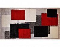 Kusový koberec Rumba 8423, červeno-šedý