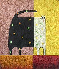 Obraz - Černo-bílá kočka