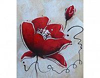 Obraz- Červená květina