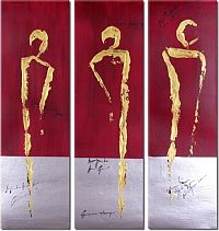 Obrazový set - Zlaté siluety