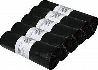 Odpadkové LDPE sáčky 60 litrů, černé (sada 5 rolí) HL012 Helpmation
