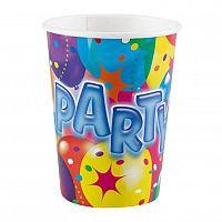 Papírový párty kelímek 250ml 8ks barevný - Amscan