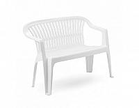 Plastová zahradní lavice Diva bílá