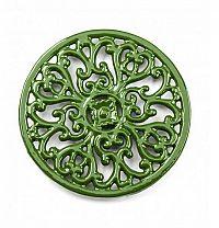 Podložka pod hrnec - smaltovaná zelená - Smalt
