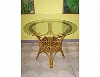 Ratanový jídelní stůl UNI-světlý