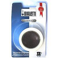 Sada: 3 gumové těsnění + 1 sítko pro nerezové kávovary - Bialetti