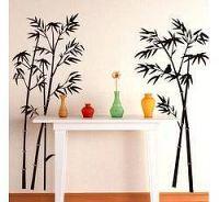 Samolepka na zeď - Bambus a ptáček - Nalepovací tabule