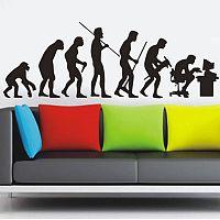Samolepka na zeď evoluce muže - nalepimeto