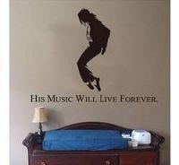Samolepka na zeď - Hudba žije věčně - Nalepovací tabule