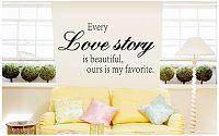 Samolepka na zeď Love story - nalepimeto